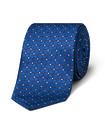 Men's Tie Blue Geometric Pattern