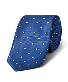 Men's Tie Blue with White Spot