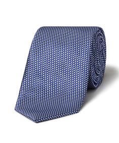 Men's Tie Navy Tri Geometric Print