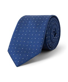 Tie Blue Self Stripe and Spots