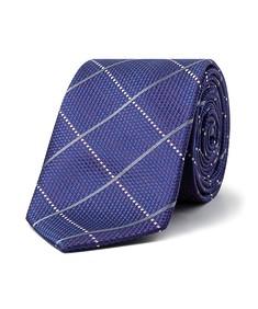 Men's Tie Purple with Wide Diagonal Check
