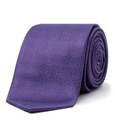 Men's Tie Purple Square Swirl