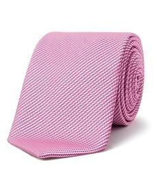 Men's Tie Pink Diagonal Zig Zag
