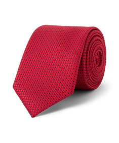 Tie Red with Contrast Spots