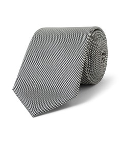 Tie Black Grey Textured