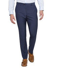 Slim Fit Business Trousers Ink Mini Self Check