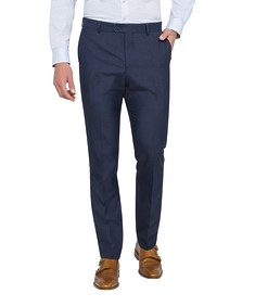 Slim Fit Business Trousers Ink Self Check