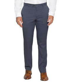 Slim Fit Business Trousers Sky Textured