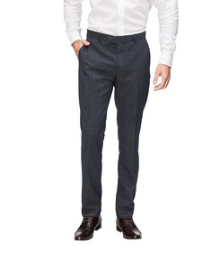 Slim Fit Business Trousers Charcoal Check