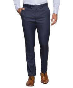 Super Slim Fit Business Trousers Blue Multi Tone