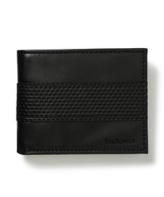 Mens Bi Fold Wallet with Perforated Pattern