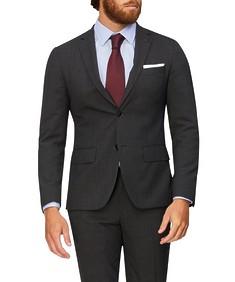 Super Slim Fit Suit Jacket Charcoal Check