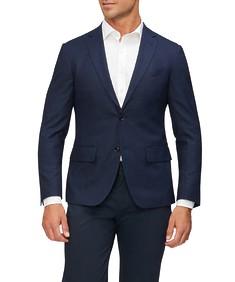 Super Slim Fit Suit Jacket Ink Tonal Check