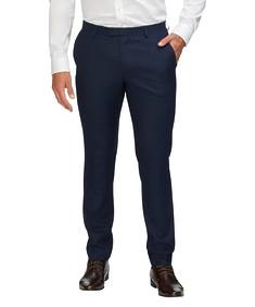 Super Slim Fit Suit Pant Ink Tonal Check