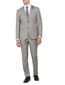 Mens Super Slim Fit Nested Suit Grey Window Pane