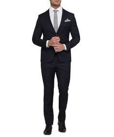 Men's Super Slim Fit Nested Suit Ink Birdseye