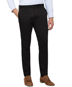 Mens Super Slim Cuffed Trousers