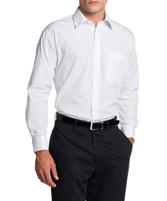 Van Heusen Easy Care French Cuff Classic Fit White Shirt