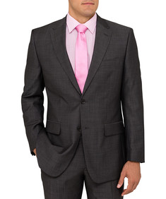 Euro Fit Charcoal Mens Suit Jacket