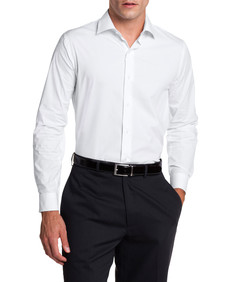 Van Heusen Slim Fit Cotton Stretch White Shirt