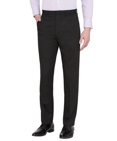 Classic Relaxed Fit Business Trousers Black