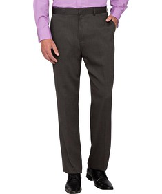 Classic Relaxed Fit Business Trousers Charcoal
