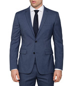 Van Heusen Move Slim Fit Blue Nailhead Suit Jacket