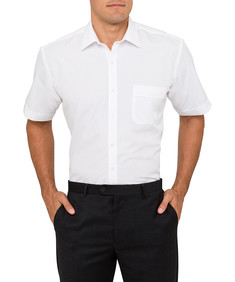 Van Heusen Poplin White Easy Care Classic Fit Mens Shirt