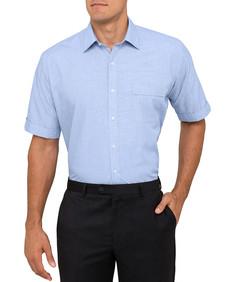 Mens Classic Fit Short Sleeve Shirt Royal Blue