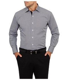 Mens Euro Fit Shirt Mini Check