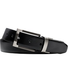 Mens Business Belt Black with Detailed Buckle