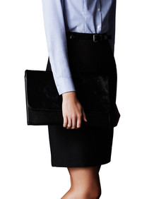 Womens Classic Fit Suit Skirt Wool Blend