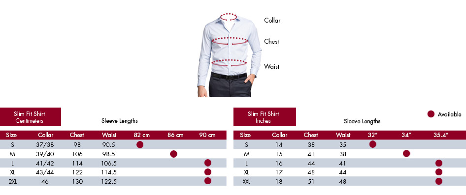 872c8c1fe8 Van Heusen Fit Guide