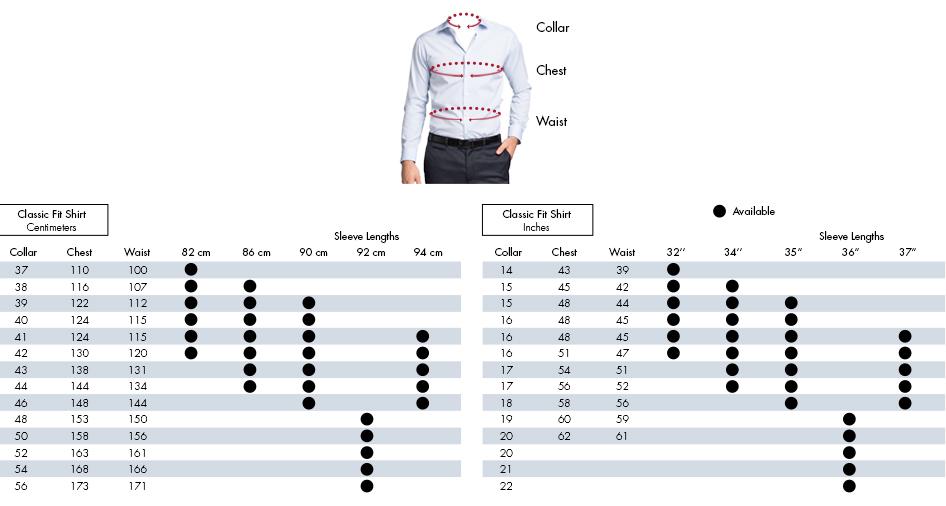 Mens Shirt Size Conversion Chart Nz Jumpers Sale