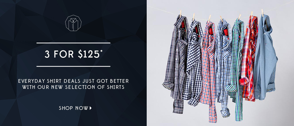 3 for 125, shirts