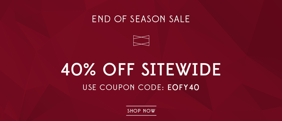 End of season sale, end of financial year, sitewide