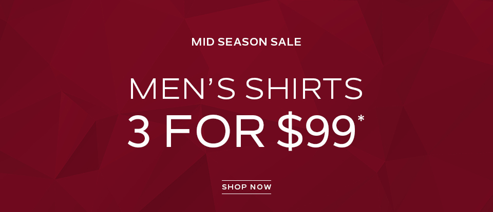 Men\\\\\\\'s Shirts 3 For $99. Shop now.