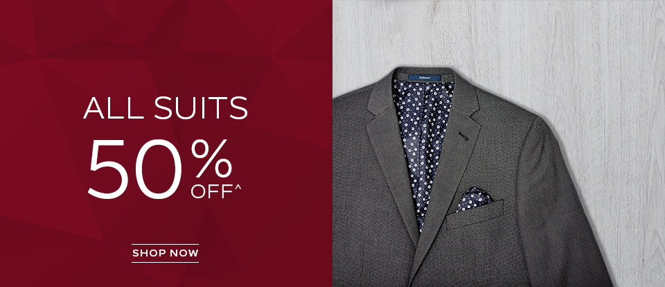 All Suits 50% Off