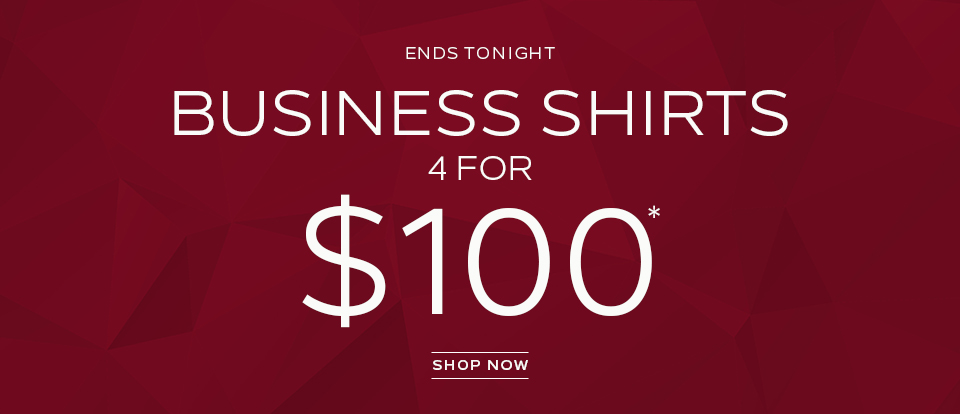 Business Shirts 4 For $100