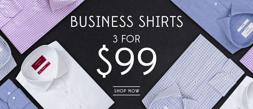 3 Business Shirts for $99