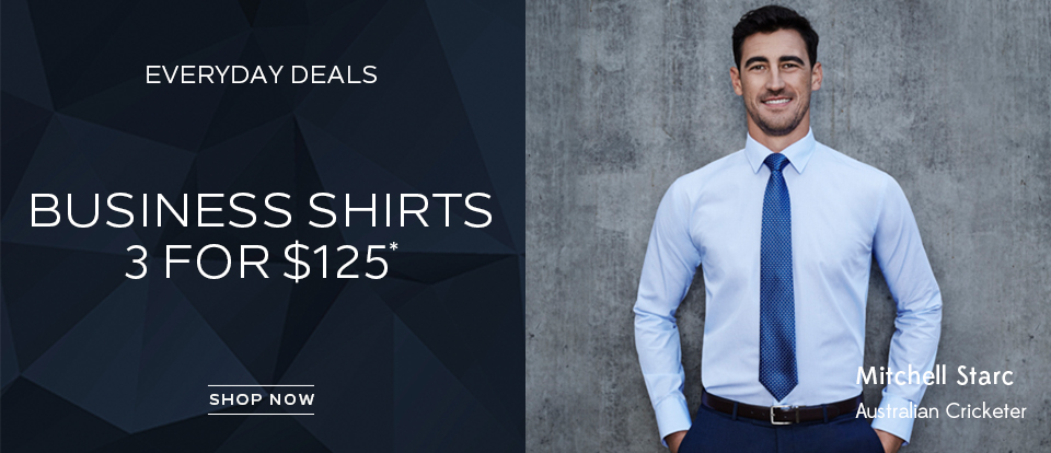 Business Shirts 3 for $125