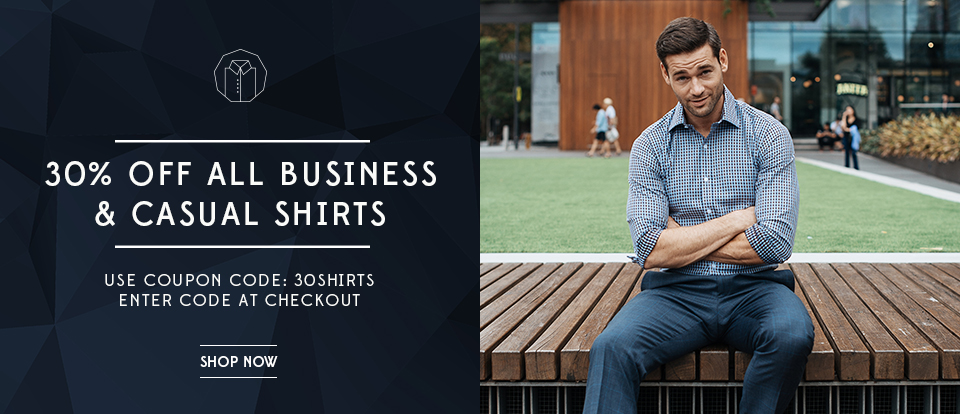30% Off All Business Shirts & Casual Shirts