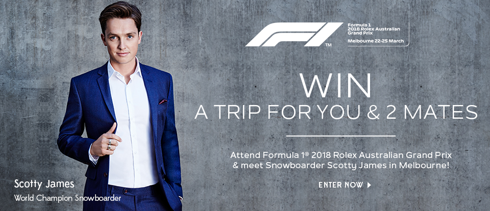 WIN a trip for you and two mates